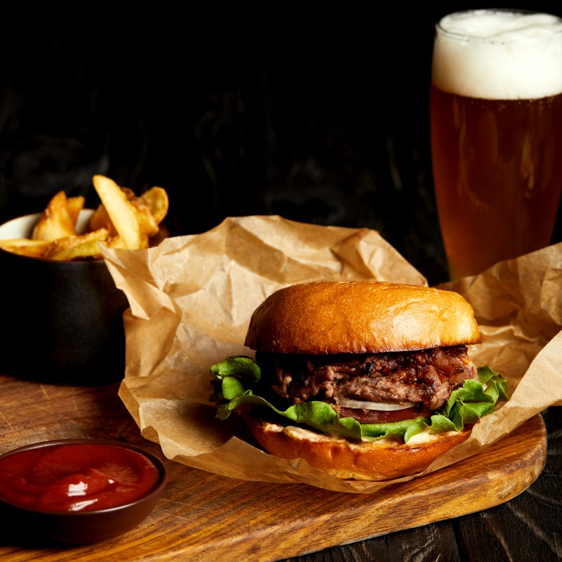 USA burger and beer